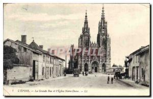 Old Postcard The Great Thorn Street and Notre Dame church