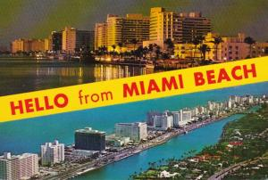 Florida Hello From Miami Beach Showing Hotels