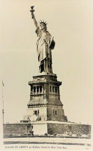 RPPC Statue Of Liberty ON Bedloes Island In New York Bay