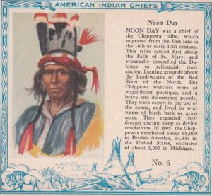 TC: RED MAN Chewing Tobacco Trade Card , 1890s ; American Indian Chiefs ; NOO...