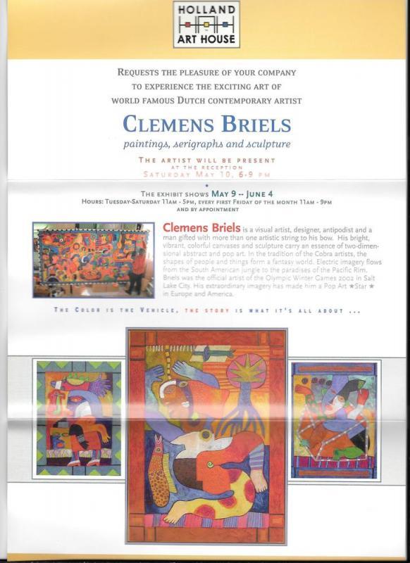 West Chester PA Clemens Briels Art Exhibit Invitation 2003