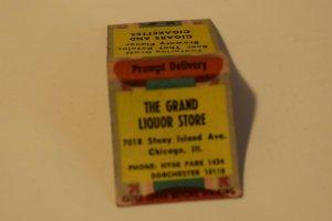 The Grand Liquor Store Chicago Illinois 20 Strike Matchbook Cover