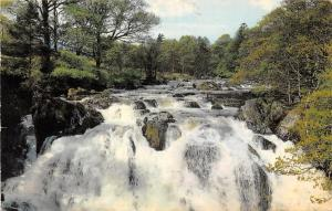 The Swallow Falls, Betws-y-Coed waterfall wasserfall 1969