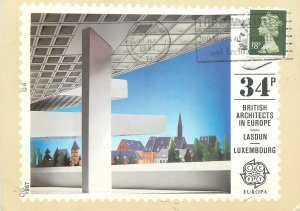 Postcard Europe Luxembourg Lasdun British architects in Europe