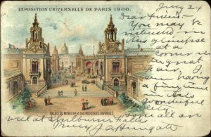 1900 Paris Universelle Expo USED July 25 1900 Postcard