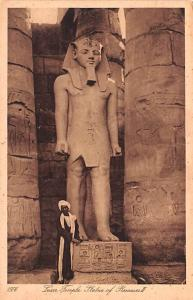 Egypt, Egypte, Africa Luxor Temple, Statue of Rameses II  Luxor Temple, Statu...