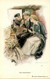 The Honeymoon... - Artist Signed: Harrison Fisher