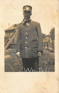 Rochester NY William Todd Railroad Conductor real photo postcard.