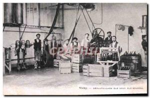 Postcard Old Cures Vichy Bottling water sources