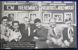 The Breakfast In Hollywood Gang 1940's Postcard