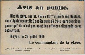 FRANCE carte postal CPA - VINTAGE POSTCARD - Oise : Noyon - WOW!