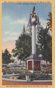 Utah Salt Lake City Erected In Grateful Remembrance Of The Mercy Of God 1950