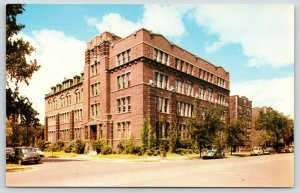 Chicago Illinois~The American School~Drexel Avenue @ 58th~Cars in Street~1950s