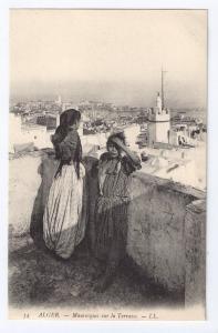 Mauresques sur la Terrasse Algiers ca. 1910 Moors Africa