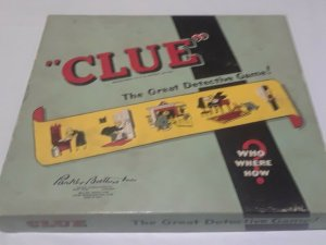 Vintage Clue Game - 1950 - Green Box - incomplete, no game board