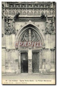 Old Postcard Les Andelys Church of Our Lady Meridional Gate