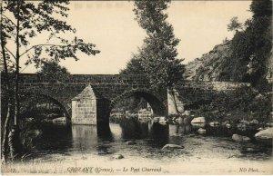 CPA CROZANT Le Pont Charraud (1144150)