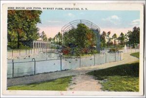 Bird House & Pond, Burnet Park, Syracuse NY