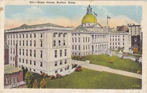 Exterior View, State House Building, John Hancock Estate, Beacon Hill, Boston...