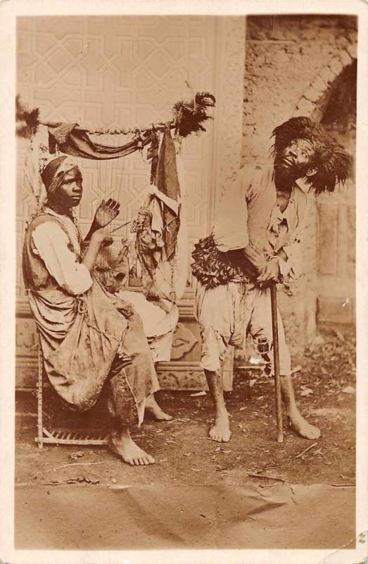 Sudan Sudanese Musicians Real Photo Antique Postcard J72320