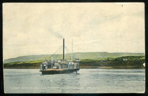 dc1772 - DALLES Oregon Postcard 1909 Columbia River Ferry