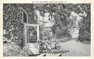 New Ulm Minnesota~Way of the Cross~Paath Down Hill~Open Doors~1930s B&W Linen