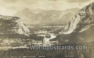 Canada Banff CPR Hotel, Bow Valley Real Photo