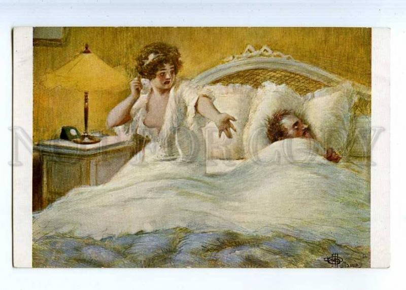 224821 FRANCE Guillaume Scene Lapina #858 Nude old postcard