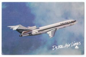 Delta Air Lines Boeing 727 Vintage Postcard