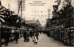 PC CPA YOKOHAMA Honcho Dori pour recetion du Prince de Connaught JAPAN (a8593)