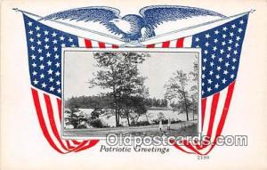Patriotic Greetings  Postcard Post Card  Patriotic Greetings