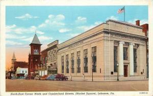Lebanon Pennsylvania~National Bank~Ninth & Cumberland Streets~Market Square~1935