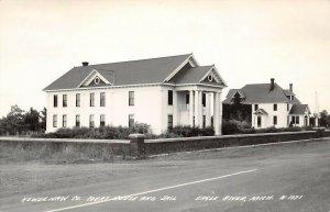 LPM50 Eagle River Court House Jail   Michigan RPPC Postcard