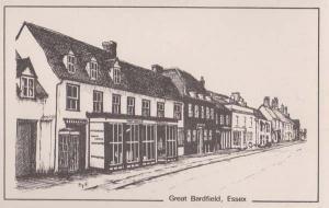 Great Bardfield Dunmow Post Office Essex Postcard