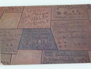 Pre1980 SHIRLEY TEMPLE IN SIDEWALK AT GRAUMAN'S Hollywood CA r8913