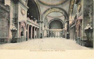 Metropolitan Museum Art Interior Hall Postcard NYC c1910 P173