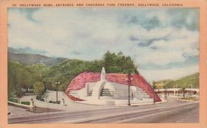 California Hollywood Hollywood Bowl Entrance and Cahuenga Pass Freeway 1954