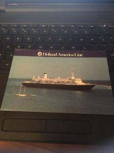 Vtg Postcard: Holland America Line,  MS Nieuw Amsterdam