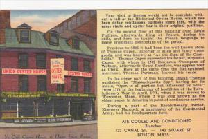 Massachusetts Boston Ye Olde Oyster House Restaurant