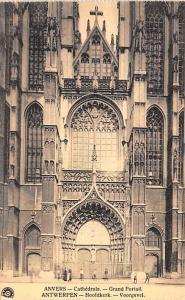Anvers Belgium, Belgique, Belgie, Belgien Cathedrale, Grand Portail Anvers Ca...