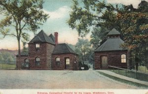 MIDDLETOWN , Connecticut, 1907 ; Entrance CT hospital for Insane