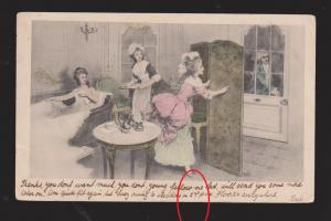 Young Ladies Bathing & Having Tea - Used In UK 1903 - Small Tear