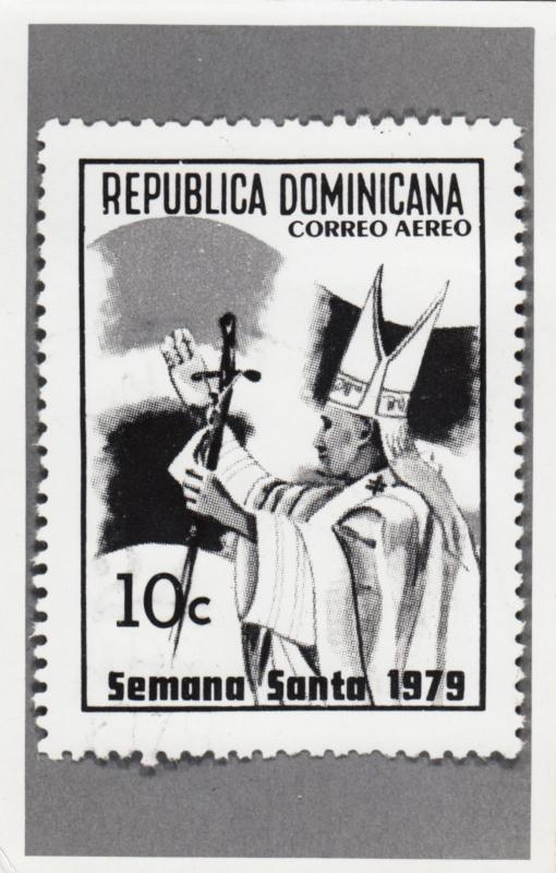 RP: Republica Dominicana, 1979 ; Stamp commerating Visit of POPE