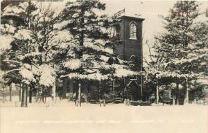 Nashua IA White With Snow is the Little Brown Church in the Vale (Wildwood) RPPC