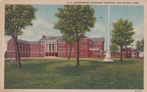 Iowa Des Moines U S Government Veterans' Hospital 1949 Curteich