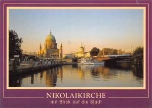 Nikolaikirche mit Blick auf die Stadt, Schiff Boats Church Eglise
