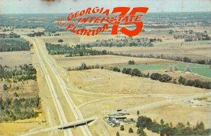 Georgia Florida Interstate 75 New Super Interstate Highway Chrome Postcard