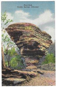 Pivot Rock, Eureka Springs, Arkansas unused linen Curteich