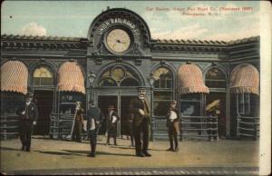 Providence RI Trolley Car Station Union Railroad Co c1910 Postcard