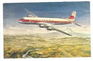 WESTERN Airlines DC-6B Airplane , 40-50s